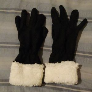 Unbranded Black and Cream Gloves